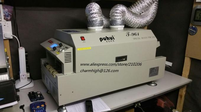 High precision 3040 Stencil Printer + CHMT48VB with vibration Feeder + T961 Reflow Oven SMT Line