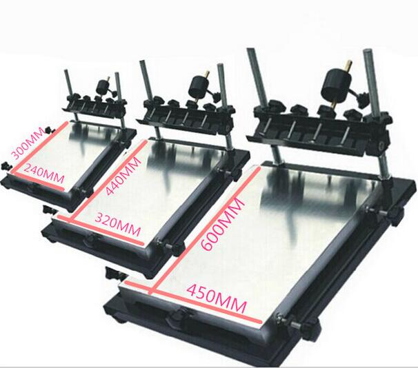 Manual Solder Paste Printer With 320*440mm Stencil Printer for SMT Production Line