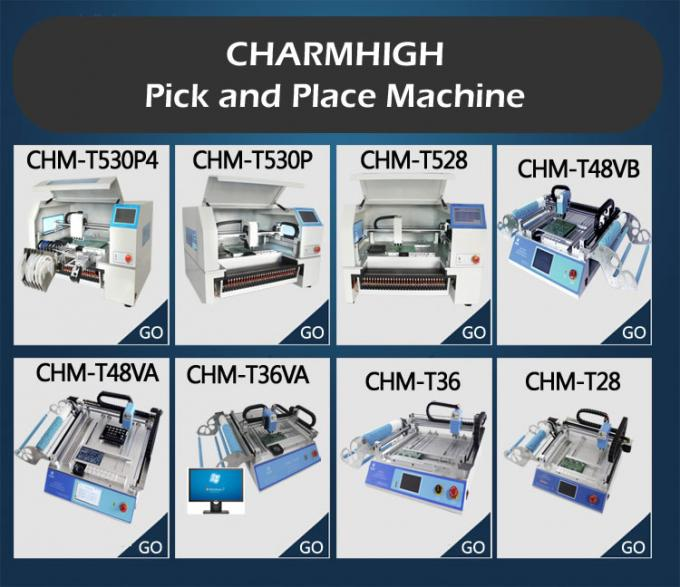 Charmhigh 8 models Desktop SMT SDM Pick and place Machine CHMT36 CHMT48 CHMT530 CHMT560