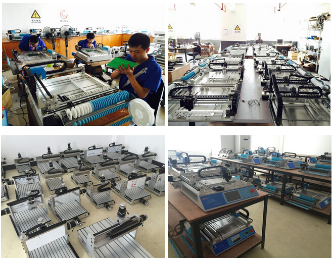 2 heads Table top CHMT528P Advanced SMT Pick and Place Machine + Yamaha Pneumatic Feeder, Batch production