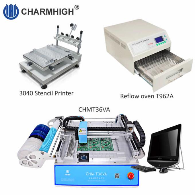 Hot 3040 High Precision Stencil Printer, SMT Production Line PCB assembly line