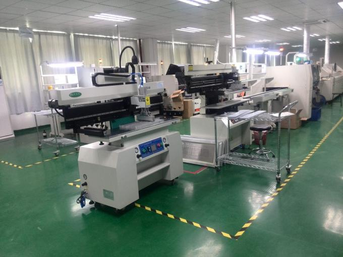 1.2 Meter SMT Semi Automatic Solder Paster Printer For LED, Red glue 320*1300mm