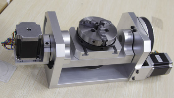 China K01-100mm Chuck CNC 4th Axis / 5th Axis CNC Dividing Head for CNC Router supplier