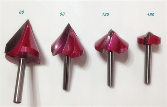 China 4 Pcs Shank 6*22mm V-Shaped 3D CNC Router Bits 60 90 120 150 Degree for Acrylic PVC MDF supplier