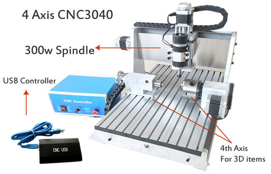 China Professional CNC3040 3D CNC Router , CNC Engraving Drilling And Milling Machine supplier
