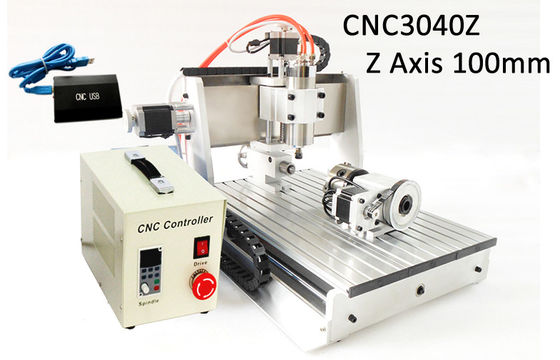 China USB Controller 4 Axis Z axis Travel 100mm 3040 CNC Router 3D 800w Heighten Version supplier