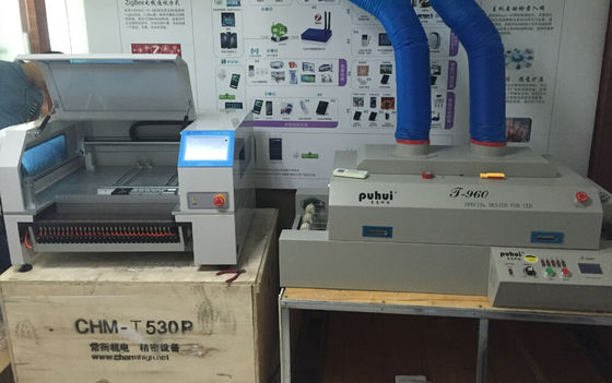 China CHMT528P Feeder Machine + T960 reflow oven SMT SMD Pick And Place Machine + Vibration feeder supplier