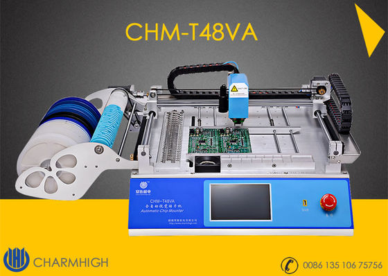 China Advanced SMT Pick And Place Machine CHMT48VA + Top and Bottom Camera CCD system supplier
