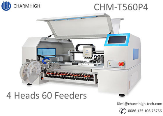 China Advanced 4 Heads 60 Feeders CHMT560P4 SMT Pick and Place Machine + Yamaha pneumatic Feeders, Batch production supplier