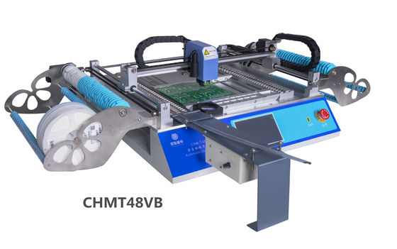 China Perfect Desktop pick and place machine CHMT48VB dual side 58 feeders 2 Vision cameras supplier