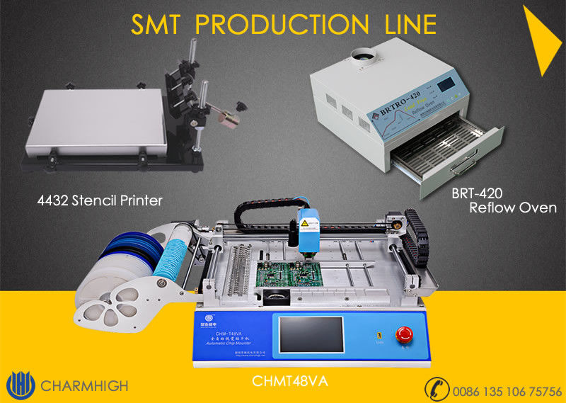 SMT Pick And Place Equipment 2500w Reflow Oven Surface Mount