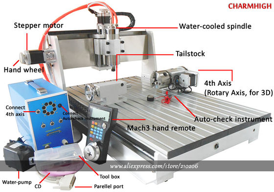 China Mach3 Wireless Controller 4 Axis 6040 3D CNC Router for Milling Routing Engraving distributor