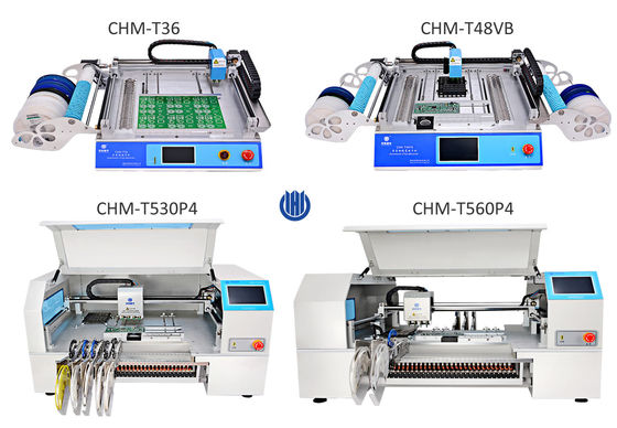 China 4 Models Charmhigh table top SMD LED SMT Pick And Place Machine Hot sale factory
