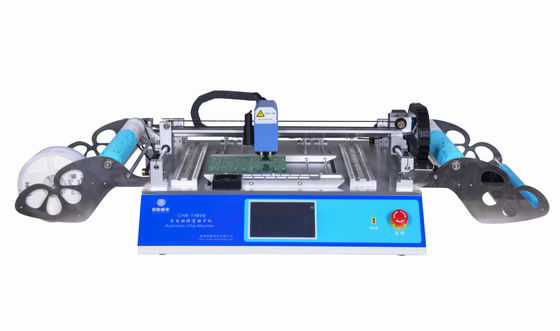 China 2 Heads 58 Feeders CHMT48VB Benchtop Advanced SMD Pick and Place Machine / All-in -one Chip Mounter distributor